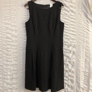 SALE WHBM Black Slip Dress w/ Pleated Skirt